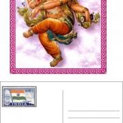 ganesh postcard paper prop
