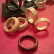 'Romeo & Juliet' ivory wedding rings