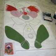 fairground clown board
