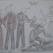 2-D Medieval scene