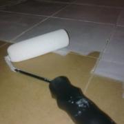 preparing tiles