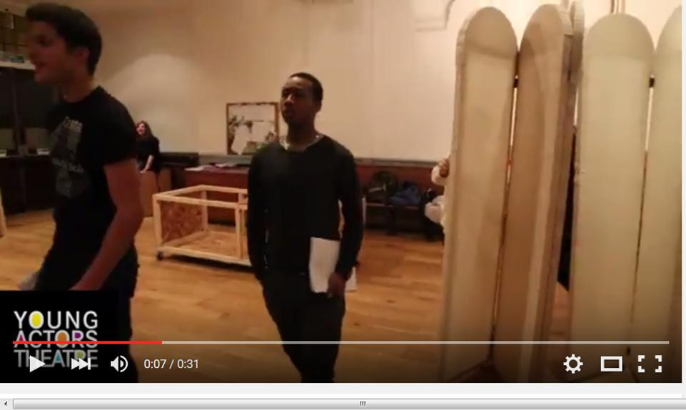 Islington The Opera Set in rehearsals